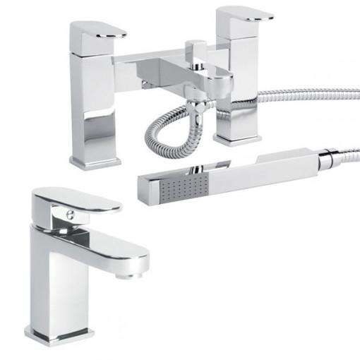 Como Basin Mixer & Bath Shower Mixer Tap Pack