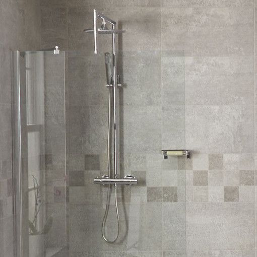 1850 x 700 Wet Room Shower Screen and Optional Shower Pack