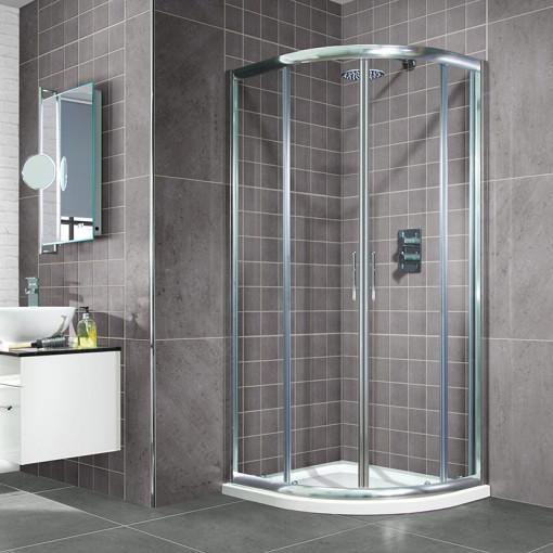 Aquafloe™ 1000 x 1000 Sliding Door Quadrant Enclosure with Ultralite Tray