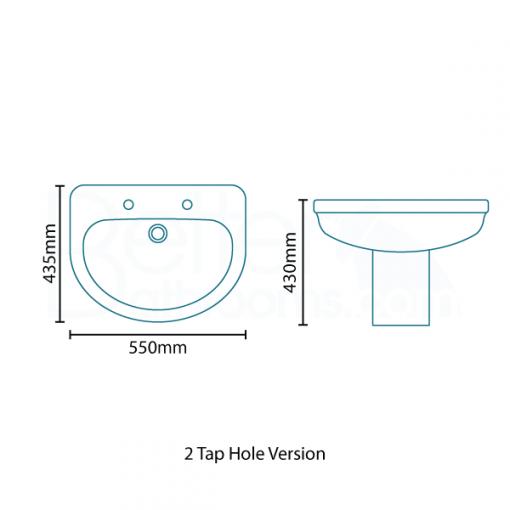 Impressions Basin and Semi Pedestal