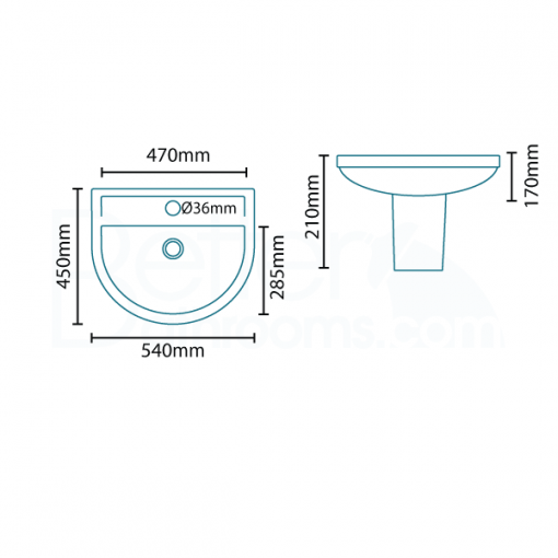 Micro™ 1 Tap Hole Basin and Semi Pedestal