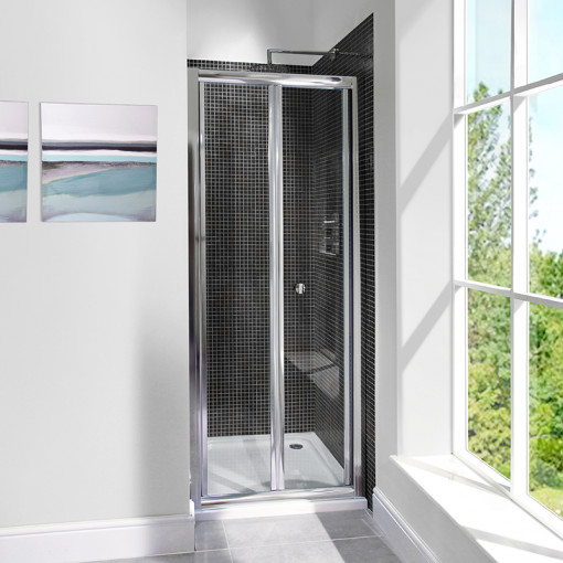 6mm 700 Bi Fold Door Shower Enclosure