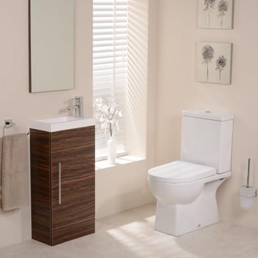 Modena Aspen Walnut Cloakroom Furniture Pack