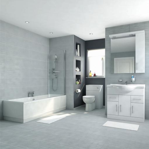 Voss 85 Vanity Unit Shower Bath Bathroom Suite