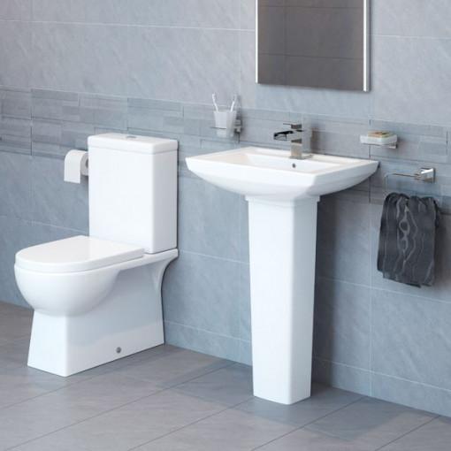 Modena 50 Full Pedestal Bathroom Suite