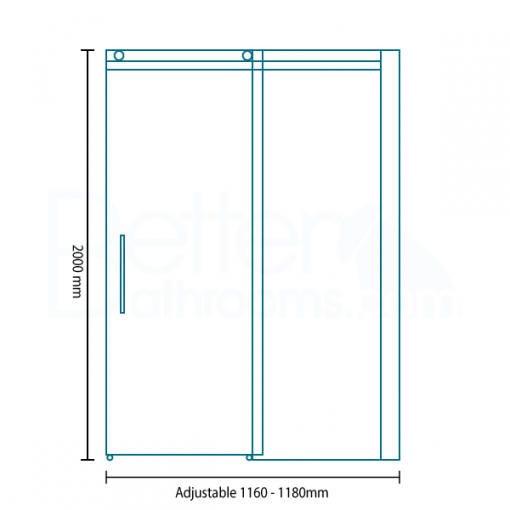 Aquafloe™ Elite ll 8mm 1200 Frameless Sliding Door