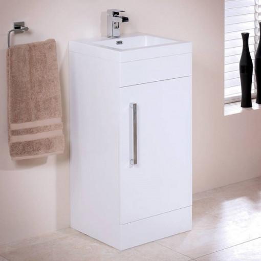 TD White 400 Vanity Unit