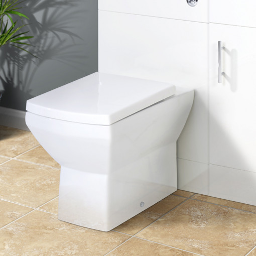 Tabor Back to Wall Toilet & Aspen Black Unit