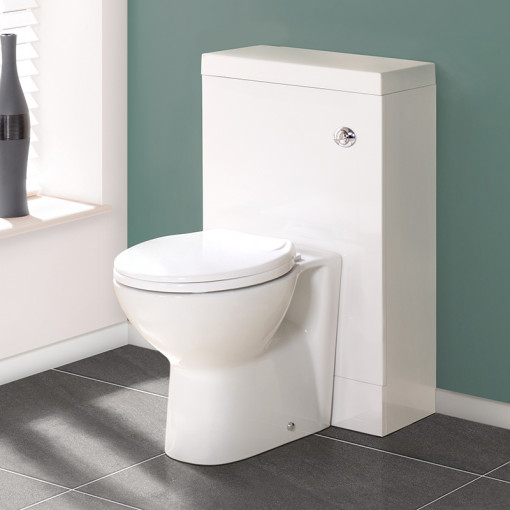 TD50 White WC Unit with Tampa™ Pan