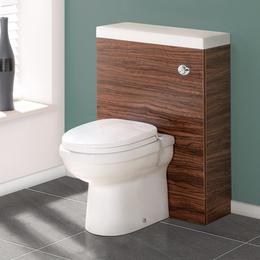 TD60 Walnut WC Unit with Impressions Pan