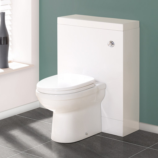 TD60 White WC Unit with Impressions Pan