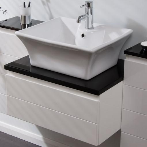 Barletta 600 Wall Mounted Basin Vanity Unit with Basin Mixer Tap