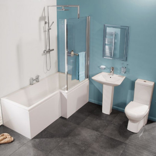Veneto Right Hand Square Shower Bath Suite