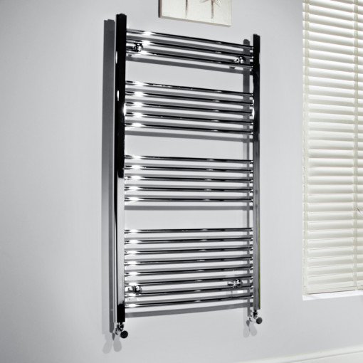 Beta Heat Electric 1150 x 500mm Straight Chrome Heated Towel Rail