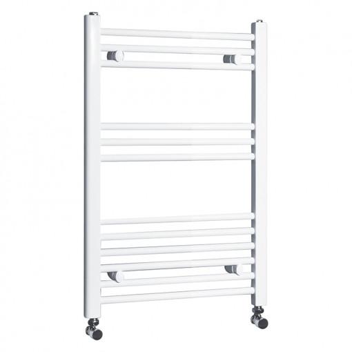 Beta Heat Electric 760 x 500mm Straight White Heated Towel Rail