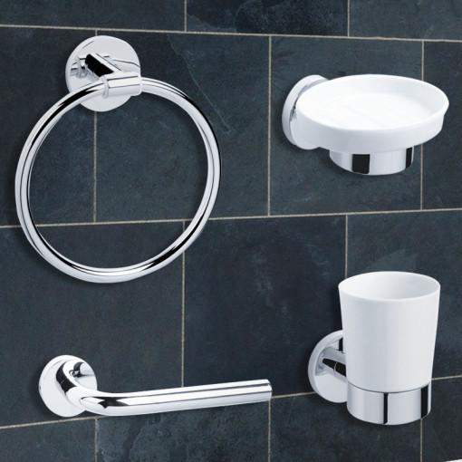 Classic 4 Piece Bathroom Accessory Pack
