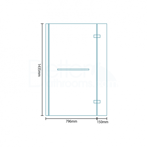 1700mm Right Hand L-Shaped Premium Shower Bath with 6mm Shower Screen & Front Panel