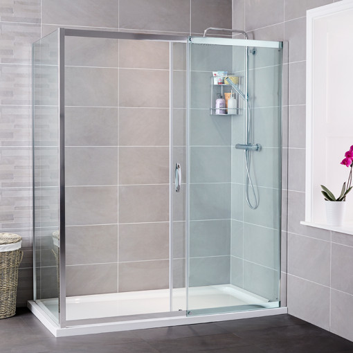 Aquafloe™ Iris 8mm 1500 x 800 Sliding Door Shower Enclosure