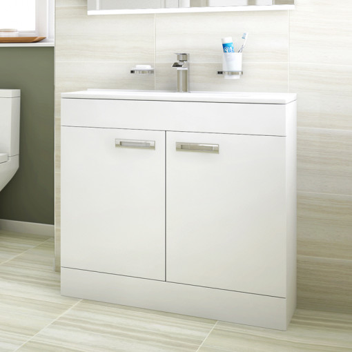 Aspen™ Compact 800 Floor Mounted 2 Door Vanity Unit