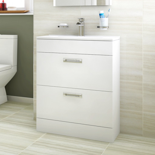 Aspen™ Compact 600 Floor Mounted 2 Drawer Vanity Unit