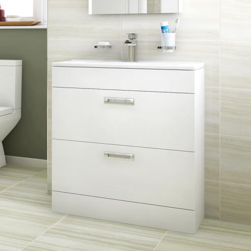 Aspen™ Compact 700 Floor Mounted 2 Drawer Vanity Unit