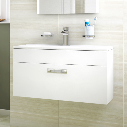 Aspen™ Compact 700 Wall Mounted 1 Drawer Vanity Unit