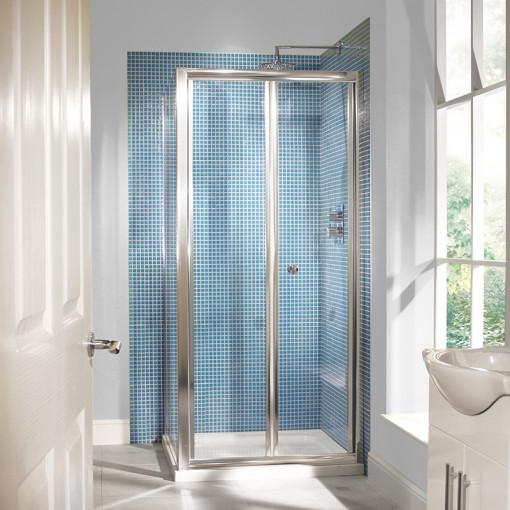 6mm 900 Bi Fold Door Shower Enclosure