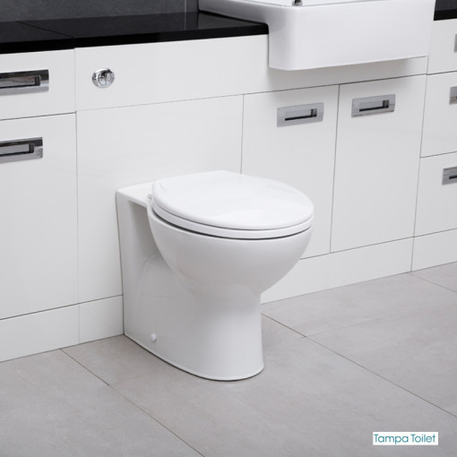 Cuba Toilet & Basin Right Hand Furniture Bathroom Suite with Black Worktop
