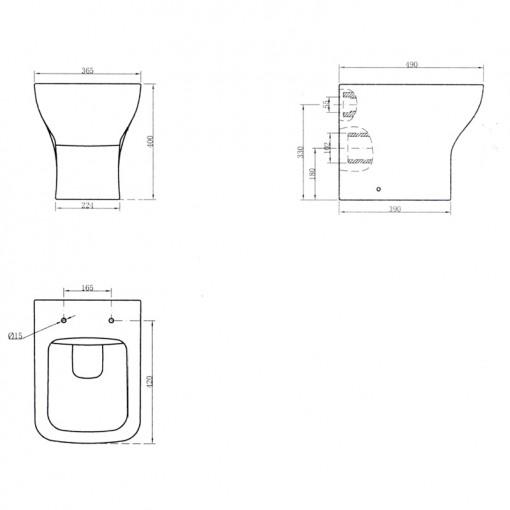 Vigo Right Hand Combination Unit and White Basin