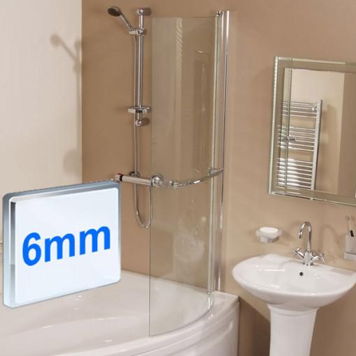 Dee Right Hand P Shape Shower Bath Suite