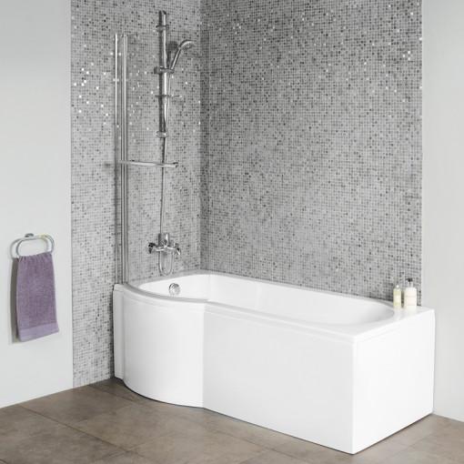Dee Left Hand P Shape Shower Bath Suite