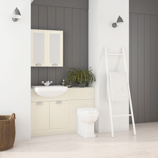 Nottingham Ivory Semi Inset Combination Unit with Park Royal™  Back to Wall Toilet