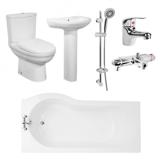 Micro™ 1675 Shower Bath Suite with Eco Shower Rail Kit