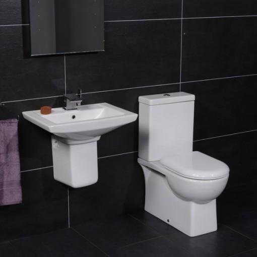 Salou 50 Semi Pedestal Bathroom Suite