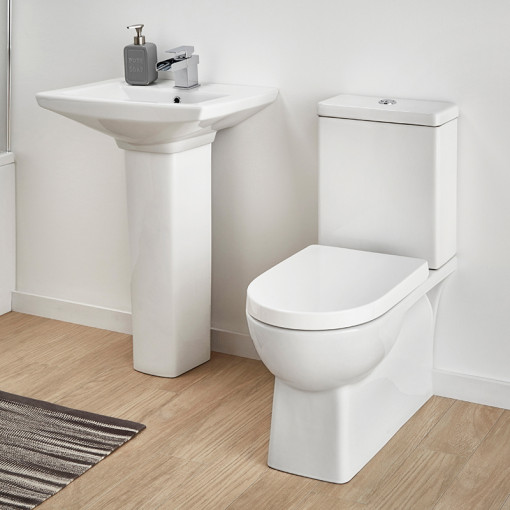 Salou 50 Full Pedestal Bathroom Suite