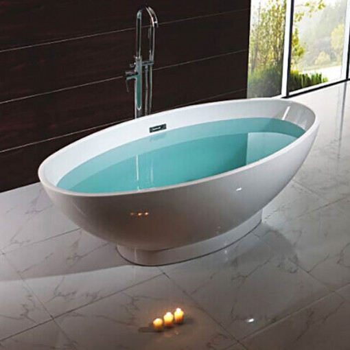 1680 X 800mm Oval Double Ended Freestanding Bath