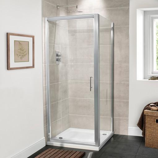 Aquafloe™ Premium 6mm 800 Pivot Shower Enclosure