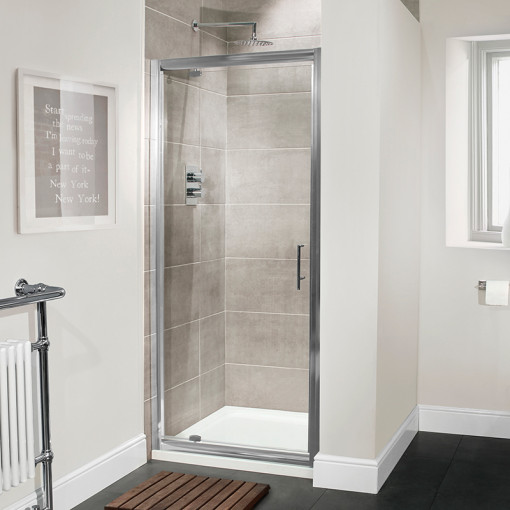 Aquafloe™ Premium 6mm 900 Pivot Door Shower Enclosure