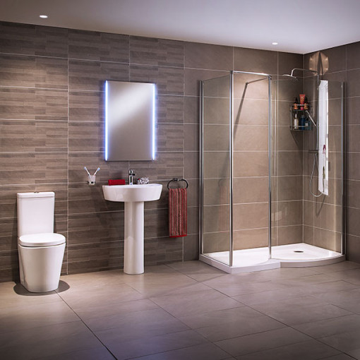 Ravenna 1400 Right Hand Walk In Bathroom Suite inc Taps