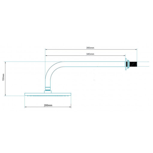 Traditional Dual Valve with 200mm Shower Head & Wall Arm