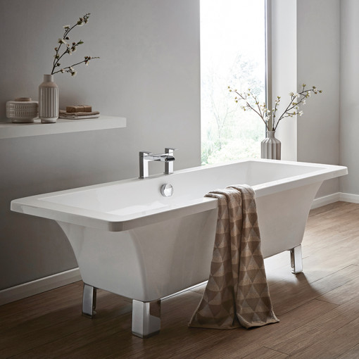 Athena 1700 x 750 Freestanding Bath with Feet and Waste