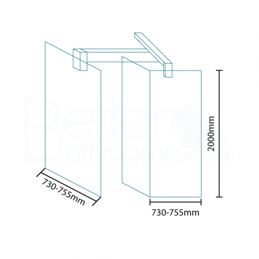 Trinity Premium 10mm 2000 x 760 Walk In Shower Screen