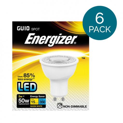 6 Pack - Energizer LED GU10 Warm White Light Bulb