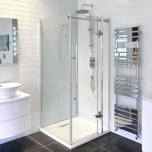 1000 X 1000 Hinged Shower Enclosure