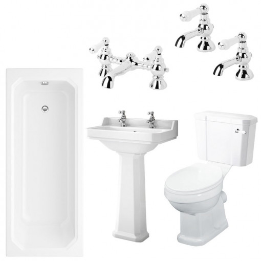 Mirza 1700 x 700 Park Royal™ Bathroom Suite with Taps
