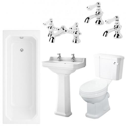 Mirza 1700 x 750 Park Royal™ Bathroom Suite with Taps