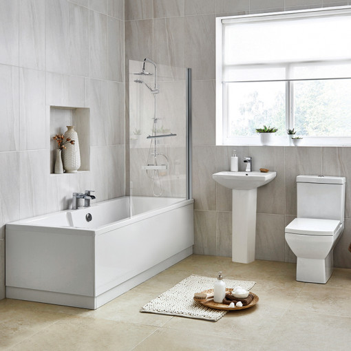 Tabor 56 Full Pedestal Suite with Tabor Shower Bath