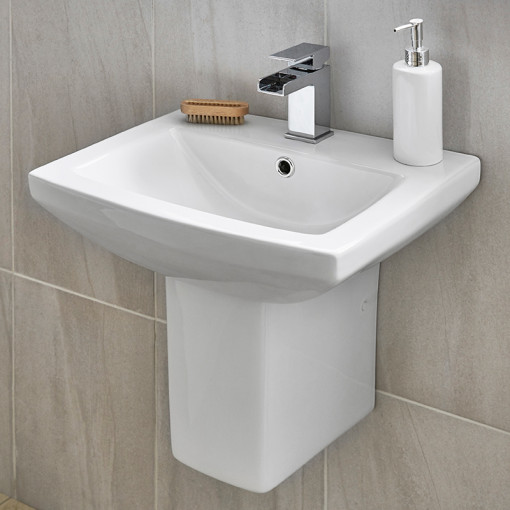 Tabor™ 560mm Basin and Semi Pedestal
