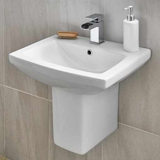 Tabor™ 460mm Basin and Semi Pedestal