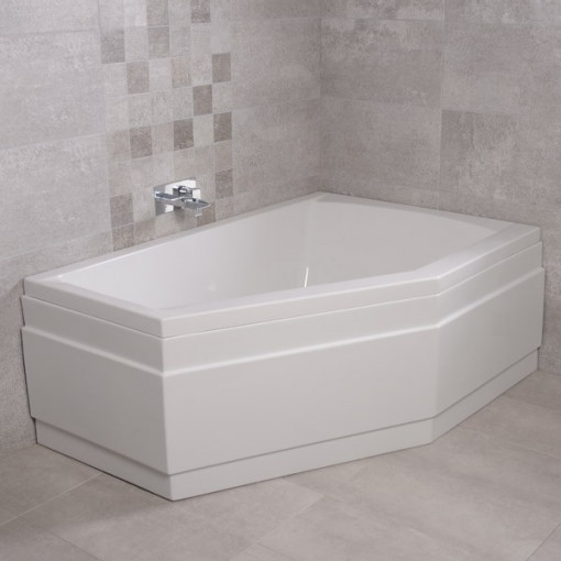 Trio Right Hand Bath with Tabor 56 Full Pedestal Suite